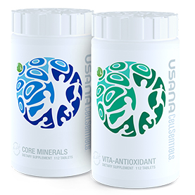 USANA Bottles of Vita Antioxidant and Core Minerals Vitamins