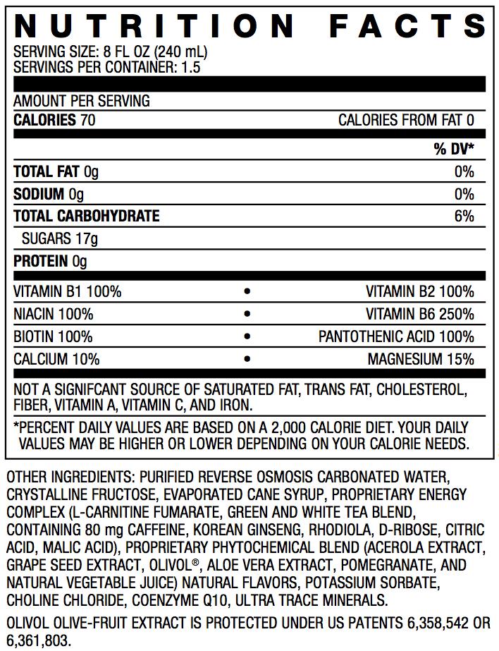 Usana Rev3 Energy Nutrition Facts Nutrition Ftempo
